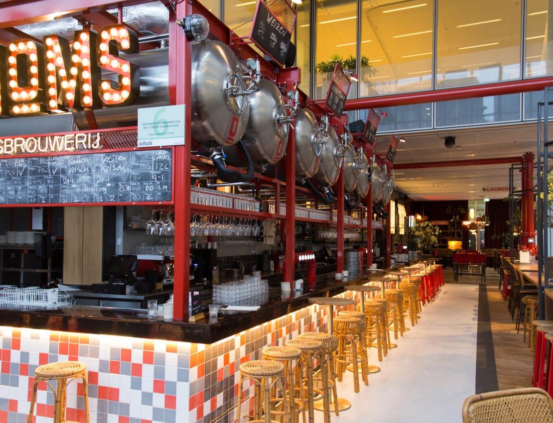 Genieten bij de stadsbrouwerij van THOMS in Rotterdam